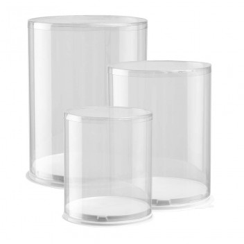 Tubes PVC Cristal + socle thermo BLANC